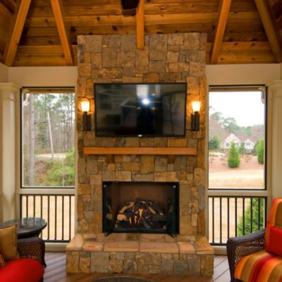 Screened Room And Fireplace Installation In Maryland